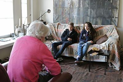 Oorlog in Mijn buurt, Philip Rumke, geinterviewd door leerlingen De Elout. foto Mirjam Schut