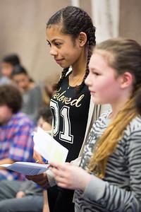 Oorlog In Mijn Buurt, presentatie Eloud school, 20 maart 2015, foto: Katrien Mulder