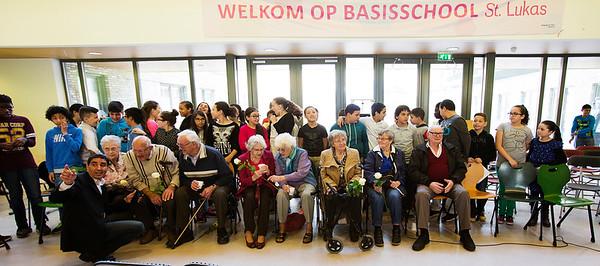 Oorlog In Mijn Buurt, presentatie Lukasschool, 10 april 2015, foto: Katrien Mulder