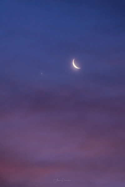 Moon and Venus
