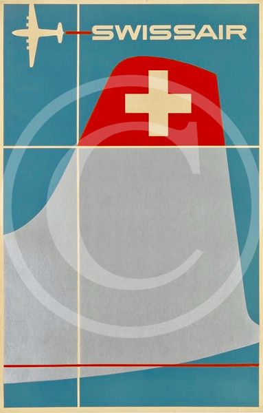 Swissair Travel Poster 1952.