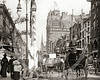 Street scene, New York 1890.