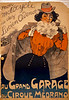 French Circus Poster - Grand Garage du Cirque Medrano 1890.
