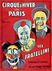 French Circus Poster - Cirque d'Hiver de Paris featuring the Fratelli Clowns 1927.
