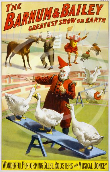 Barnum & Bailey - Greatest Show On Earth poster 1903.