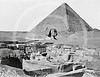 The Pyramid of Cheops and the Great Sphinx of Giza, Giza, Egypt 1870