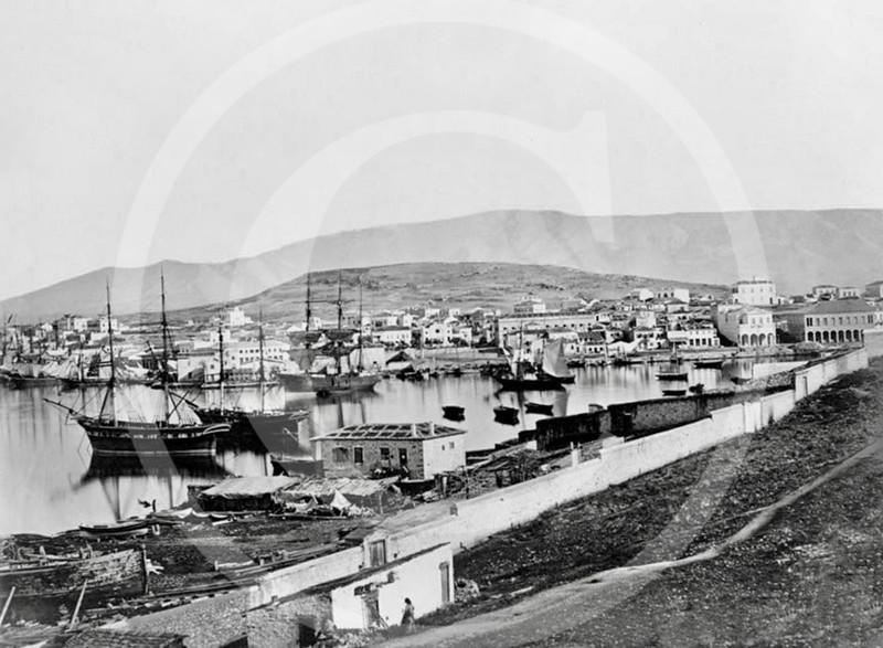 Port of Piraeus,  Athens 1860.