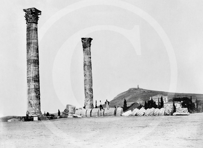 Columns of the Temple of Olympian Zeus, Athens 1860.