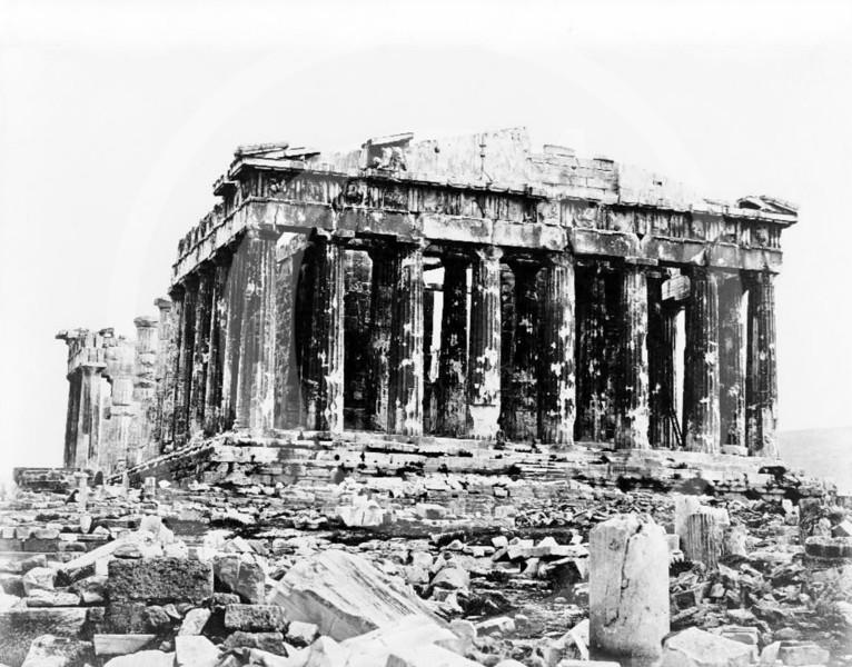 Parthenon, Athens 1860.