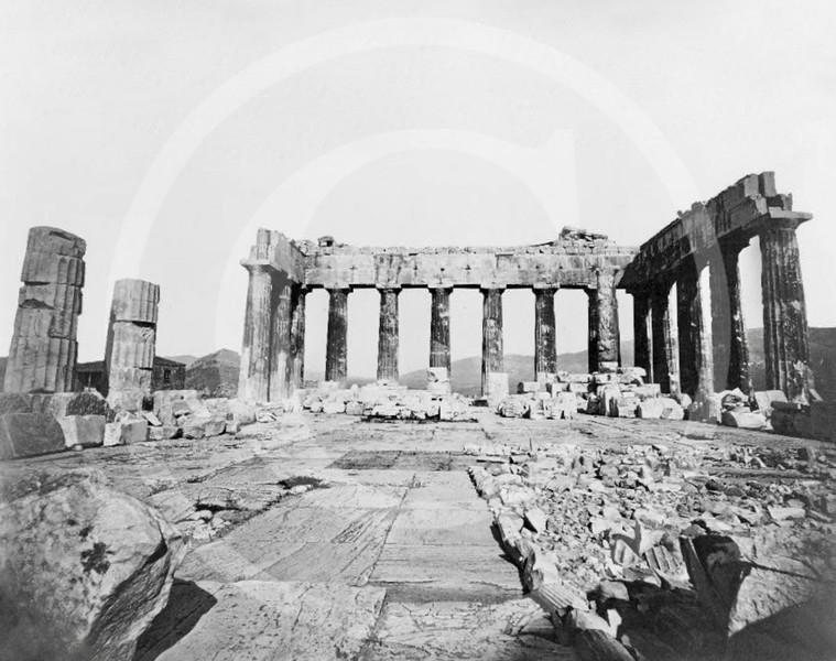 Interior of the Parthenon, Athens 1860.