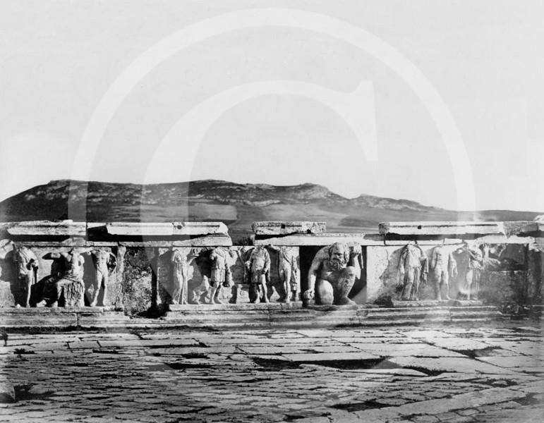 The Theatre of Dionysus Eleuthereus, Athens 1860.