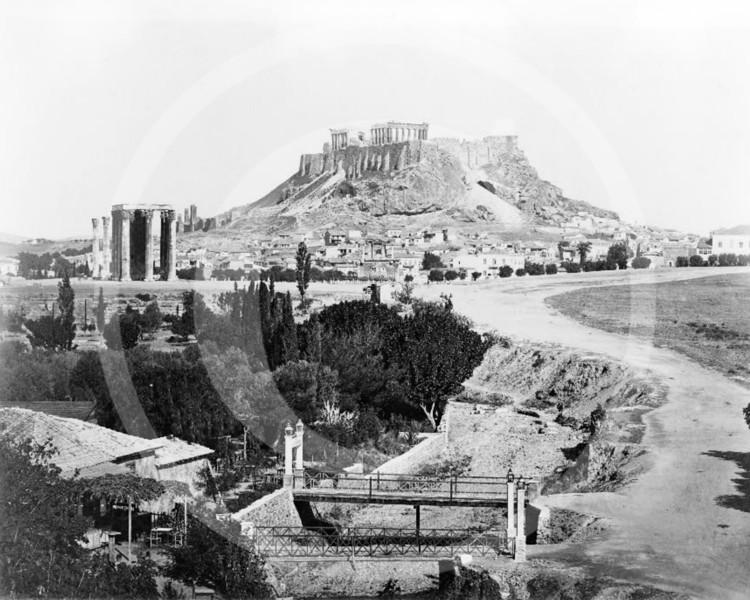 The Acropolis, Athens 1860.
