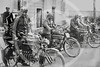 Group of Italian motorcycle riders 1914