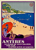 Antibes, France Travel Poster 1927