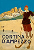 Cortina d'Ampezzo, Italy Travel Poster 1920