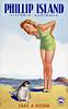 Phillip Island, Australia travel poster 1930.