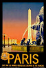 Paris, France Travel Poster 1930