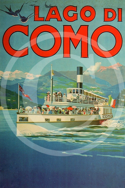 Lake Como, Italy Travel Poster