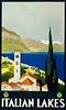 Italian Lakes Travel Poster 1930