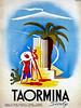 Taormina, Italy Travel Poster.