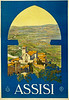 Assisi, Italy Travel Poster 1920