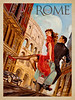Rome, Italy Travel Poster.