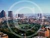 Aerial view of Boston Common, Boston, Massachusetts 1980.