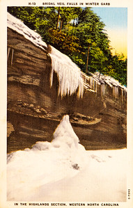 Bridal Veil Falls Winter