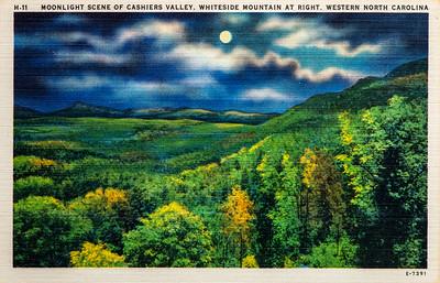 Moonlight Scene of Cashiers Valley