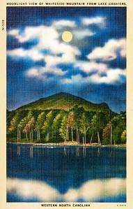 Moonlight View of Whiteside Mountain