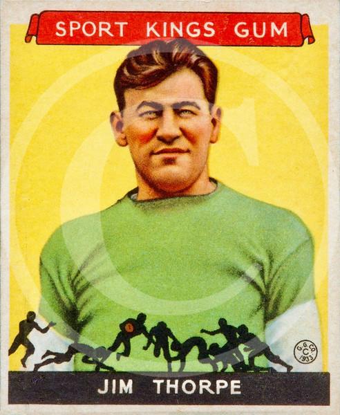 Jim Thorpe, Goudey Sports Kings trading card 1933