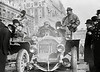 New York to Paris auto race.  German driver Hans Koeppen in the Protos car, New York 12 February 1908.