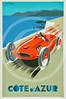 Cote D'Azur Travel Poster.