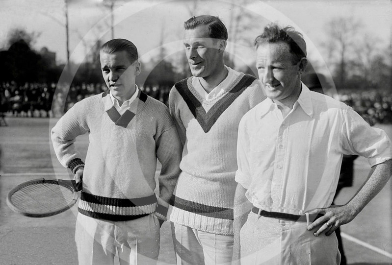 Vincent Richards, Bill Tilden & Bill Johnston, Forest Hills, New York 1913