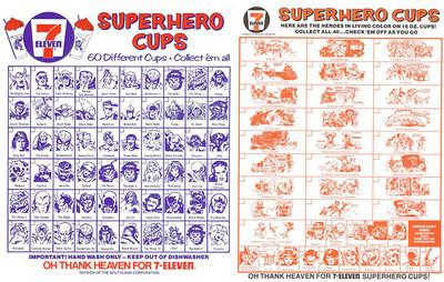 Marvel 7-11 Slurpee Cups