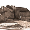Photo taken at Devil's Den in Gettysburg, Pa.<br /> 2011---- Almost 100 years later.