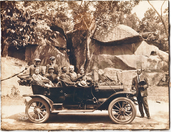 Milton P. Myers' 1st Car<br /> Photo taken 1912 at Devil's Den in Gettysburg, PA.<br /> Doug's Great Grandfather