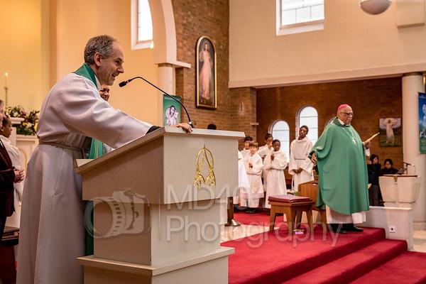 Mass with Archbishop of Trinidad, Father Joseph Everard Harris