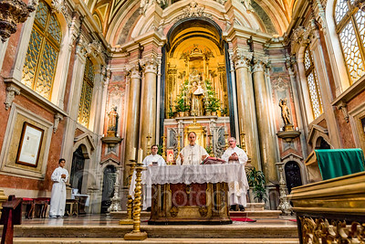 Mass at the Church of St Anthony. 