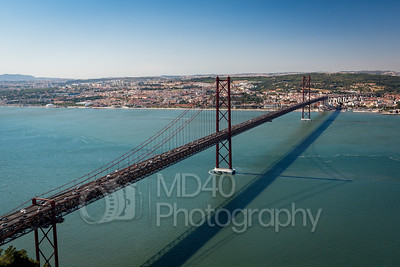 25 de Abril Bridge, Lisbon, Portugal.