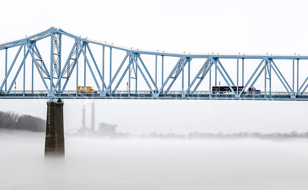 Fog and Blue Bridge - Messenger-Inquirer