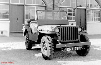 Jeep DNT 794, Fort Brockhurst Military Vehicle Rally, Gosport, Summer 1994.