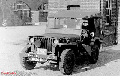 Jeep Q808 RGF, Fort Brockhurst Military Vehicle Rally, Gosport, Summer 1994.