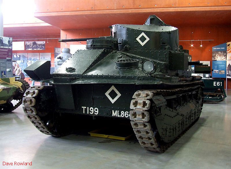 Vickers Medium Tank Mark II (GB 1926). Bovington Tank Museum, 20th July 2009.