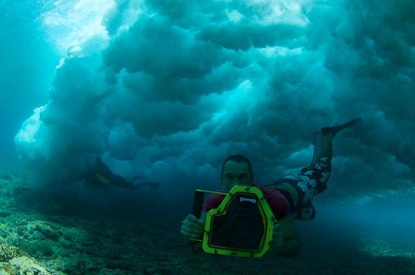 filming underwater