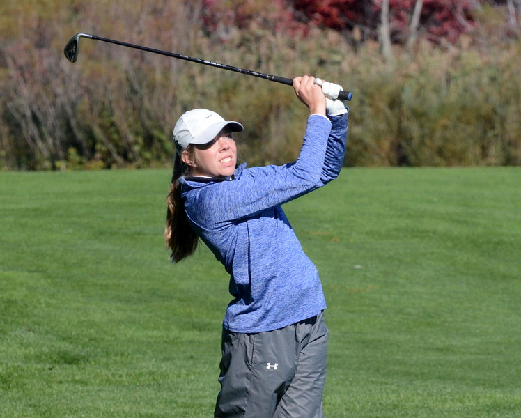 Rochester senior Brooke Busse finished fifth overall at the Division 1 golf finals, helping her Rochester team to a state championship this weekend in East Lansing. (MIPrepZone photo by Jason Schmitt)