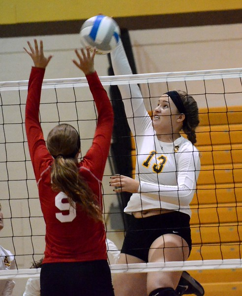 Rochester Adams hosted North Farmington, Holly and Roseville for a volleyball quad on Wednesday night. Adams and Holly each went 2-1, while North Farmington was 1-2. (MIPrepZone photo by Drew Ellis)