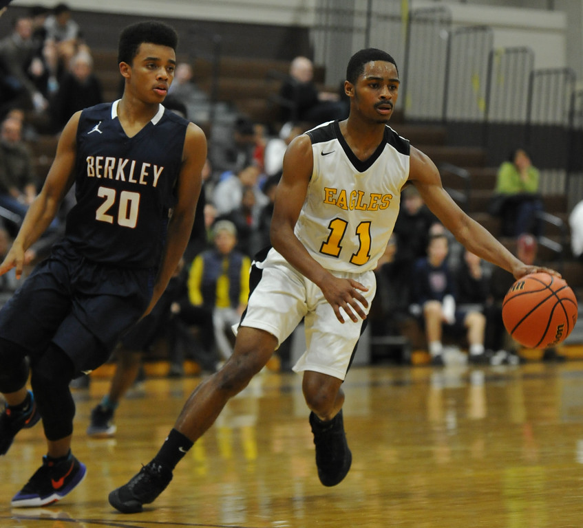 . The Berkley Bears defeated the Ferndale Eagles 54-49 in the OAA Blue match up played on Thursday January 11, 2018 at Ferndale HS.  (Oakland Press photo by Ken Swart)