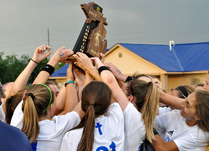 Birmingham Marian and Dexter faced off in a Division 2 girls soccer regional final on Friday, June 9, 2017 at Farmington High Schoo. (MIPrepZone photo gallery by Dan Fenner)