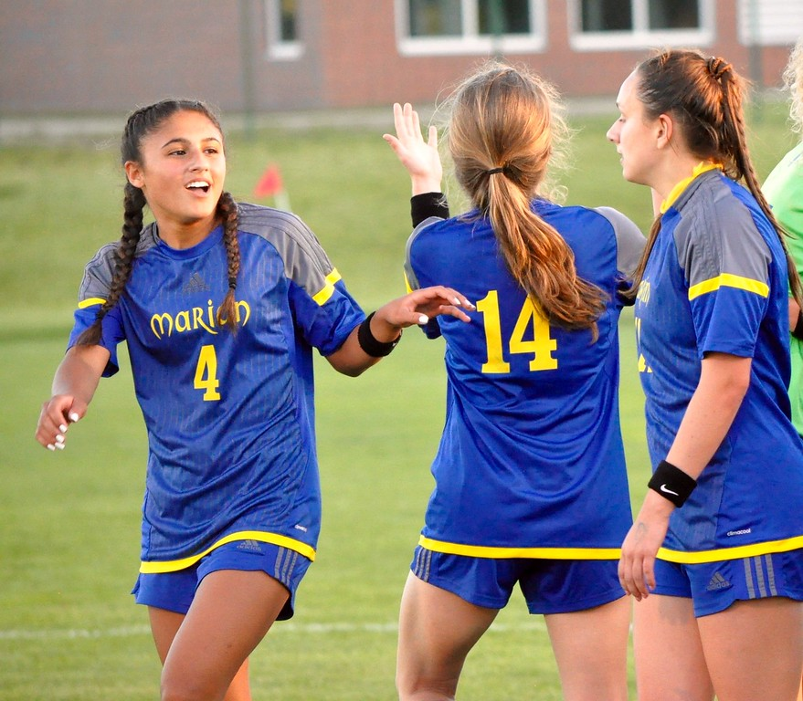 . Birmingham Marian defeated DeWitt, 1-0, in a Division 2 soccer semifinal at Novi High School on Wednesday, June 13, 2018. (Photo gallery by Dan Fenner/The Oakland Press)